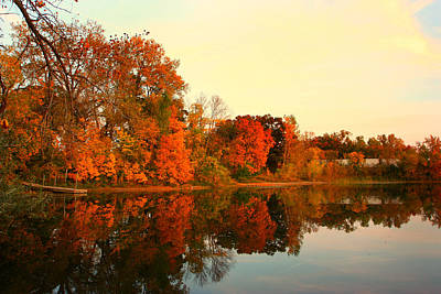 Shady Oak Lake  Art Print