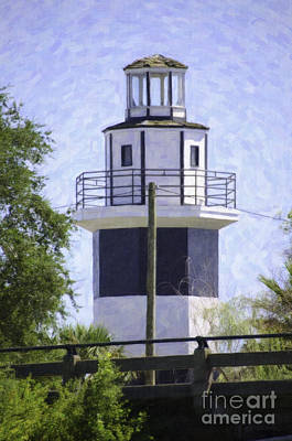 Digital Art - Shem Creek Lighthouse by Dale Powell
