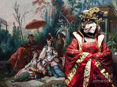 Shiba Inu Painting - Shiba Inu Art Canvas Print by Sandra Sij