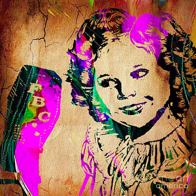 Shirley Temple Collection Art Print