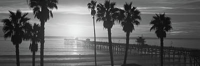 San Clemente Photograph - Silhouette Of A Pier, San Clemente by Panoramic Images