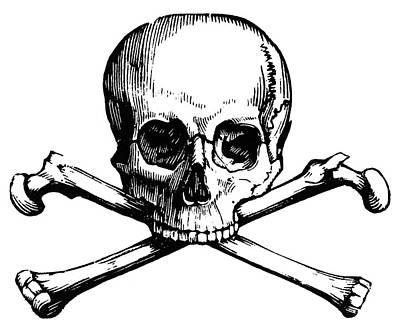 Skull And Crossbones Art Print by Granger