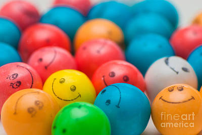 Face Photograph - Smiley Face Gum Balls by Amy Cicconi