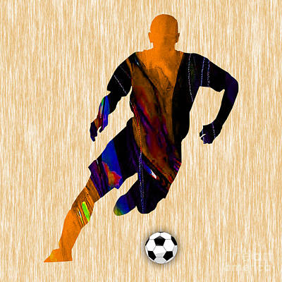 Soccer Art Print by Marvin Blaine