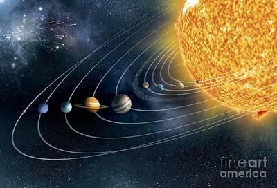 Mercury Meteor Photograph - Solar System, Artwork by Claus Lunau