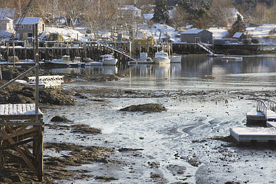 Winter In Maine Photograph - South Bristol On The Coast Of Maine by Keith Webber Jr