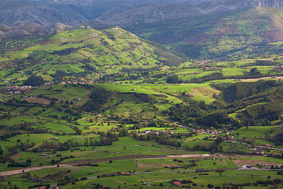 Pena Photograph - Spain, Cantabria Region, Cantabria by Walter Bibikow