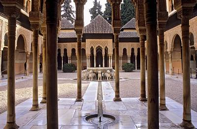 Alhambra De Granada Photograph - Spain. Granada. Alhambra. Alhambra by Everett