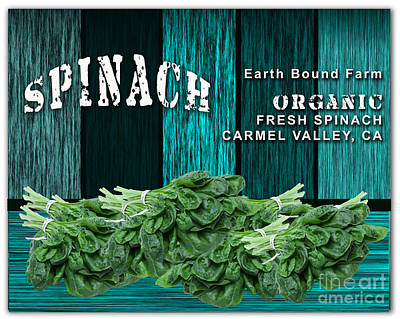 Spinach Mixed Media - Spinach Patch by Marvin Blaine