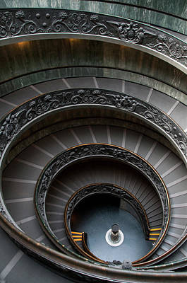 Photograph - Spiral Staircase At The Vatican by Mitch Diamond