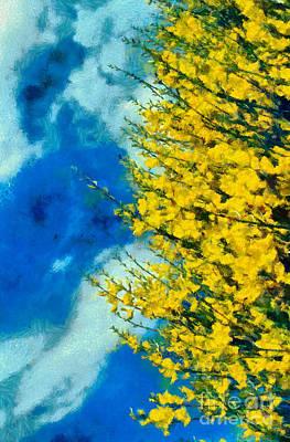 Poppies Painting - Spring Wild Flowers by George Atsametakis