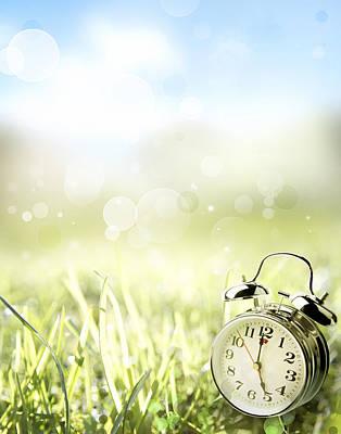 Alarm Clock Photograph - Springtime by Les Cunliffe