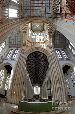 Photograph - St Edmundsbury Cathedral  by Nicholas Burningham