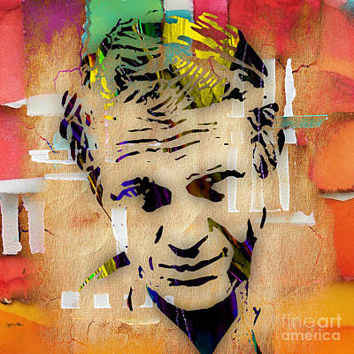 Movie Star Mixed Media - Steve Mcqueen Collection by Marvin Blaine