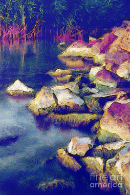 Water Filter Painting - Stones by Odon Czintos
