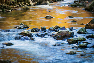 Stream Great Smoky Mountains Painted Art Print