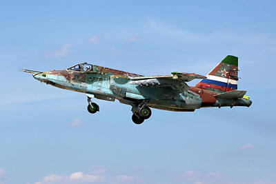 Photograph - Su-25sm Attack Airplane Of Russian Air by Artyom Anikeev