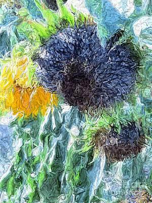 Sunflower Digital Art - Sunflower by Jennifer Wu