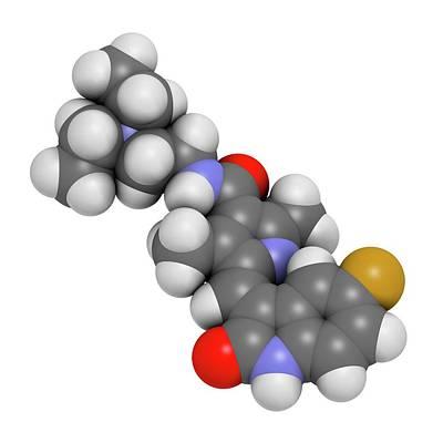 Sunitinib Cancer Drug Molecule Art Print