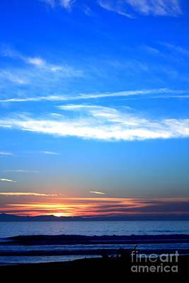 Anchor Down - Sunset Ocean Blue by Henrik Lehnerer