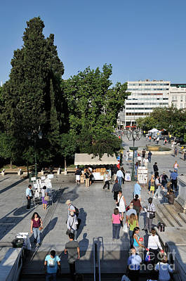 Greek Photograph - Syntagma Square In Athens by George Atsametakis