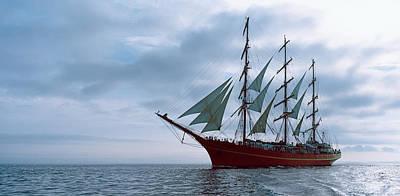 Tall Ship Regatta In The Baie De Art Print
