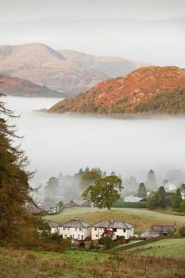 Temperature Inversion Over Ambleside Art Print