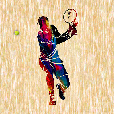 Mixed Media - Tennis Match by Marvin Blaine