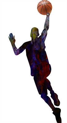 American Professional Basketball Player Painting - The Basket Player by Adam Asar