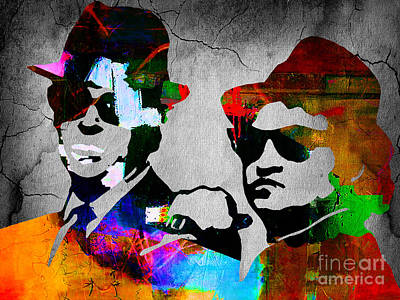 Bands Mixed Media - The Blues Brothers by Marvin Blaine