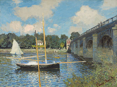 Most Popular Painting - The Bridge At Argenteuil by Claude Monet