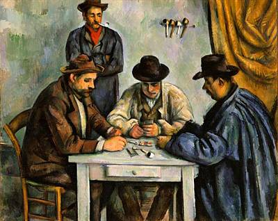 Card Players Painting - The Card Players by Paul Cezanne