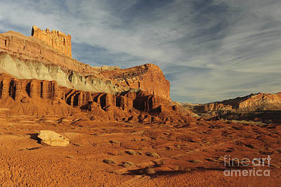 Triassic Photograph - The Castle, Capitol Reef National Park by John Shaw