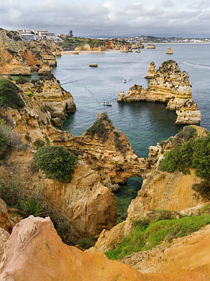 Algarve Wall Art - Photograph - The Cliffs And Sea Stacks Of Ponta Da by Martin Zwick