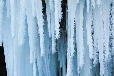 The Frozen Schleierfaelle (veil Falls Art Print