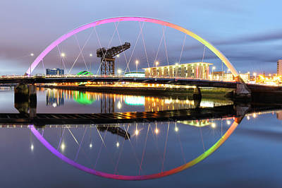 Photograph - The Glasgow Clyde Arc Bridge by Grant Glendinning