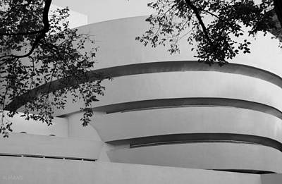 Photograph - The Guggenheim In Black And White by Rob Hans