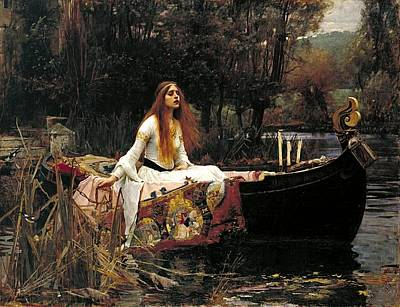 The Lady Of Shalott Art Print by John William Waterhouse