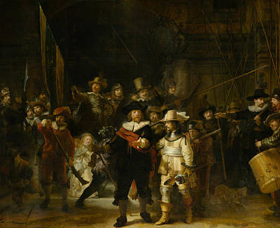 Painting - The Night Watch by Celestial Images
