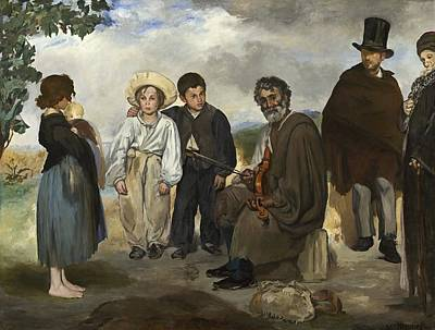 The Old Musician Print by Edouard Manet