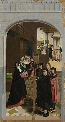 Mercy Drawing - The Seven Works Of Mercy, Master Of Alkmaar by Litz Collection