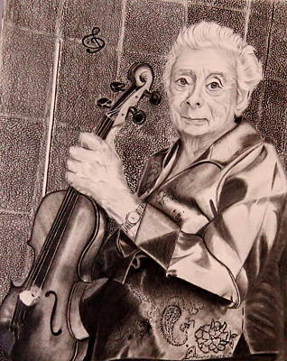 Drawing - The Violin by Sharon Schultz
