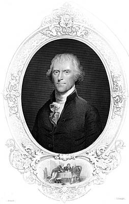 Thomas Jefferson Drawing - Thomas Jefferson  Third President Of by Mary Evans Picture Library