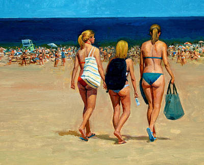 Painting - Three Blonde's by Mel Greifinger