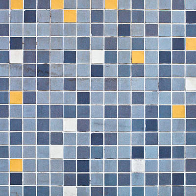Cement Photograph - Tiles by Tom Gowanlock