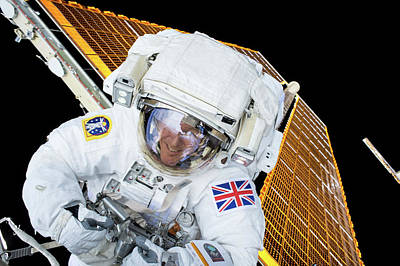 Spacesuit Photograph - Tim Peake's Spacewalk by Nasa