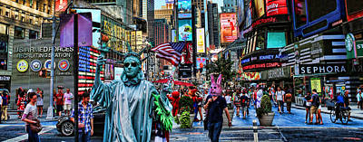 Photograph - Times Square On A Tuesday by Lee Dos Santos