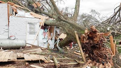 Florida House Photograph - Tornado Damage by Jim Edds