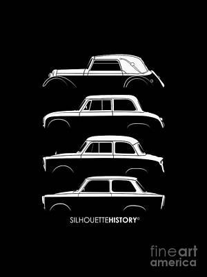 Small Digital Art - Trabant Silhouettehistory by Balazs Iker