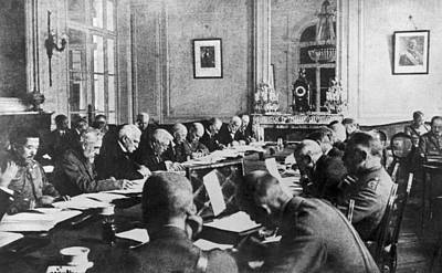 Treaty Of Versailles, 1919 Print by Granger